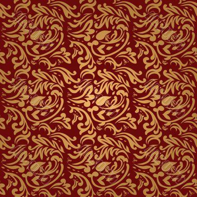 floral maroon