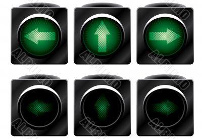 Additional traffic light. Variants.