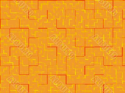Abstract orange tiles background.