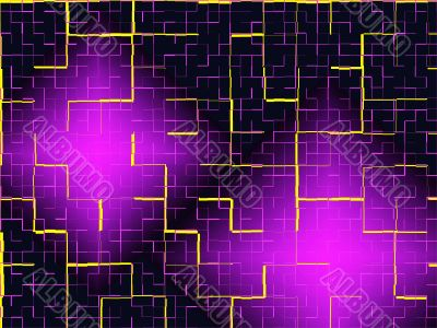 Abstract black and violet tiles background.