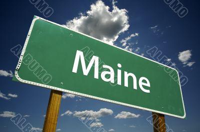 Maine Road Sign