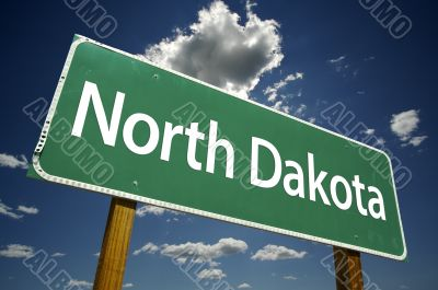 North Dakota Road Sign