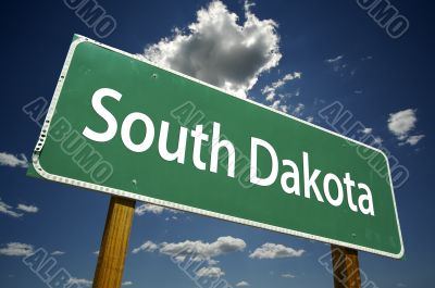 South Dakota Road Sign