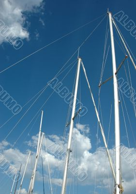 Storm-clouds and masts