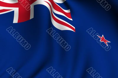 Rendered New Zealand Flag