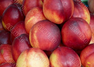 Tasty nectarines on the market