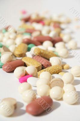 Pile of spilled pills
