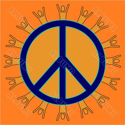 Orange Peaceful People