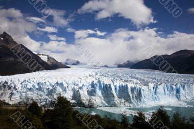 glacier ice in Patagonia