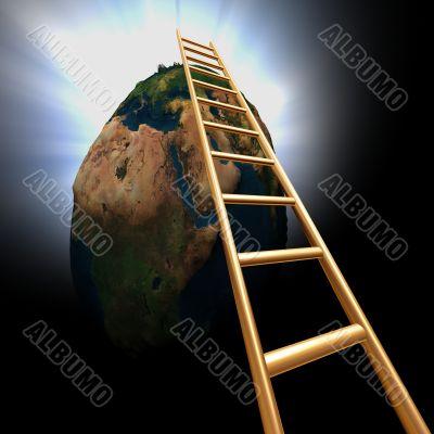 go up the world