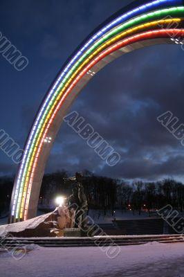 Nigth arch in the Kiev