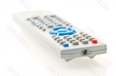 grey remote control for TV