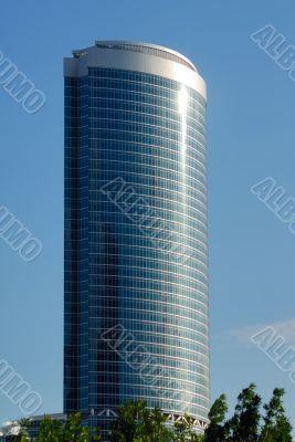 Modern high-altitude office building