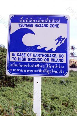 Tsunamy hazard zone, south Thailand