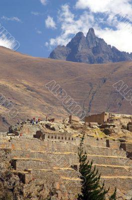 Inca ruines in ollantaytambo