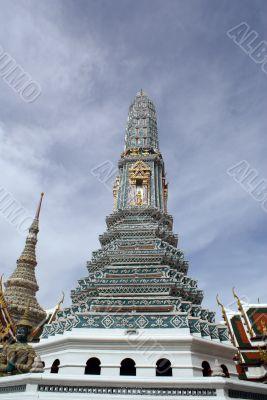 Blue stupa