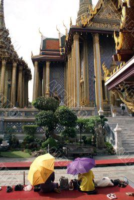 People in Wat Phra Keo