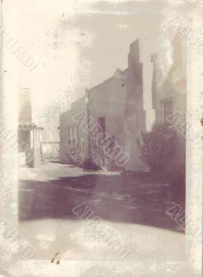 Mexico Fortress 1890 Antique Photograph