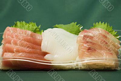 Japanese raw fish slices