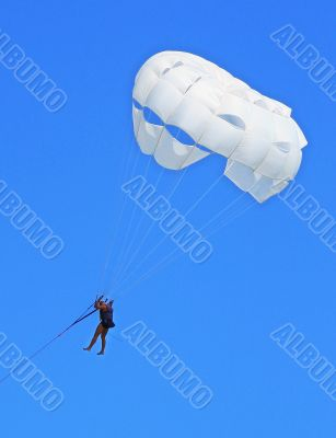 man with a parachute