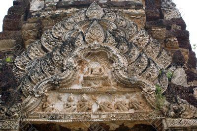 Bas-relief in Sukhotai
