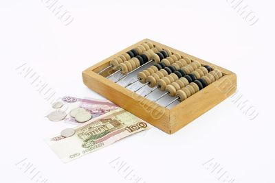 Abacus with money