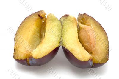 cutting plum