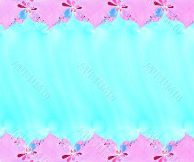 flower fractal border 2
