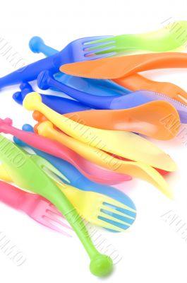 Plastic kitchen utensil closeup