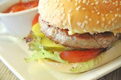 Fancy cheeseburger