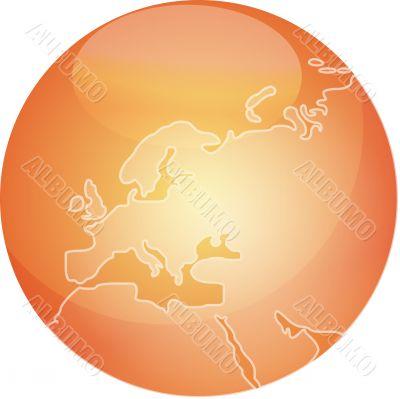 Map of Europe sphere