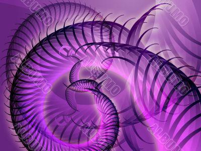 Swirly spiral grunge