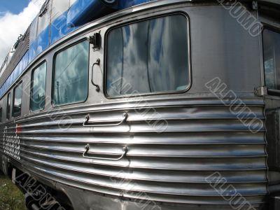 silver passenger train