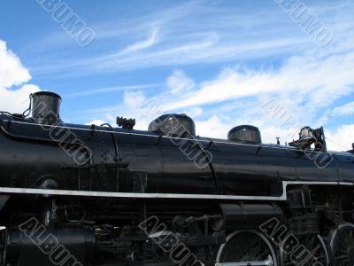 old black locomotive