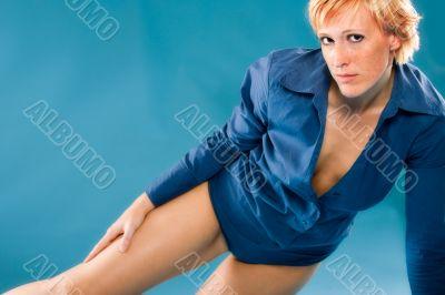 Beautiful blond posing sexy