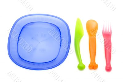 Set of plastic ware