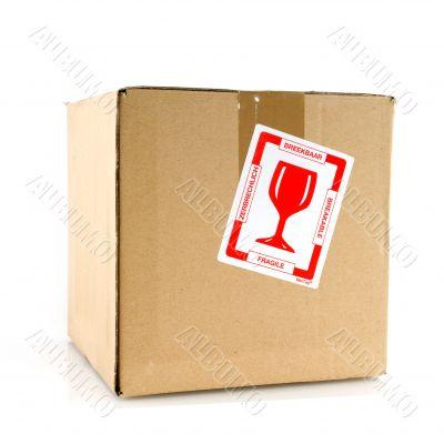 Fragile filled carton box