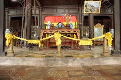 Buddhist shrine in royal pavilion