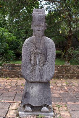 Gray statue