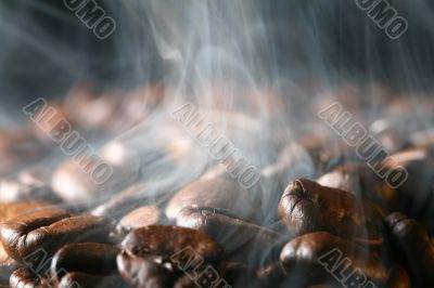 coffee in smoke