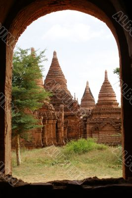 Pagodas and arc