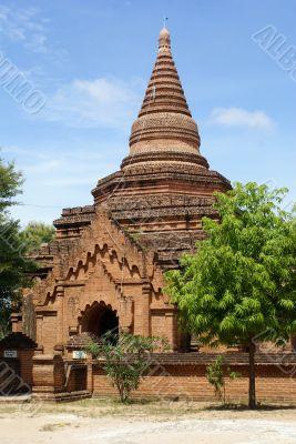 Entrance of brick pagoda