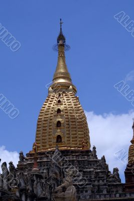 Spire of Ananda temple in Bagan