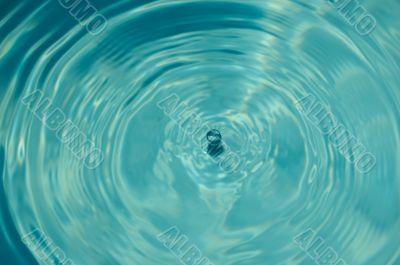 drop has fallen into water