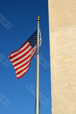 Flag of USA, Washington, DC