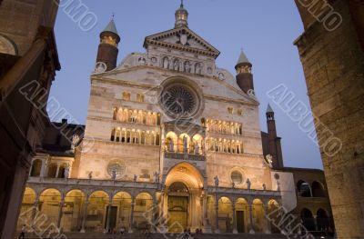 Cremona, illuminated cathedral