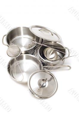 Metal kitchen utensil closeup