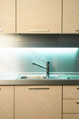 Tap in modern kitchen