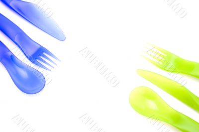 color plastic utensil