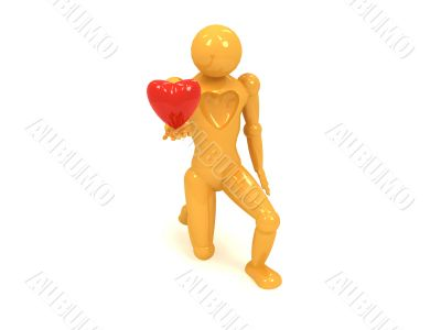 men yellow doll